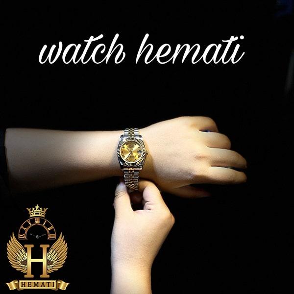 عکس ساعت زنانه رولکس دیت جاست Rolex Datejust RODJL32302 نقره ای طلایی ایندکس یونانی