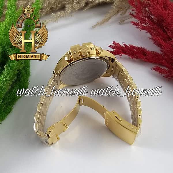 خرید انلاین ساعت مردانه دیزل شاخدار مدل DIESEL DZ4308 قاب و بند طلایی با صفحه سفیدطلایی