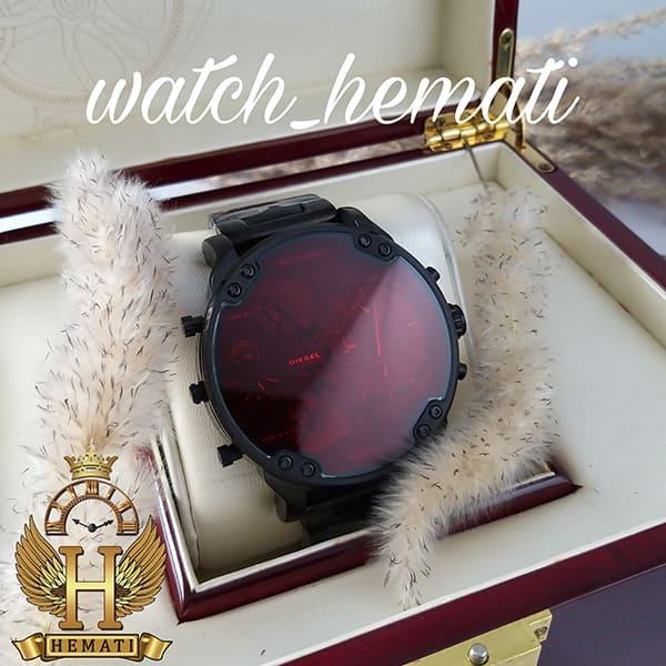 خرید اینترنتی ساعت مردانه دیزل هفت موتوره مدل DIESEL dz-7402 تمام مشکی با شیشه قرمز