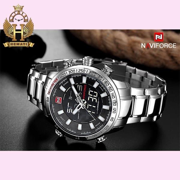قیمت ساعت مچی مردانه نیوی فورس Naviforce NF9093M نقره ای
