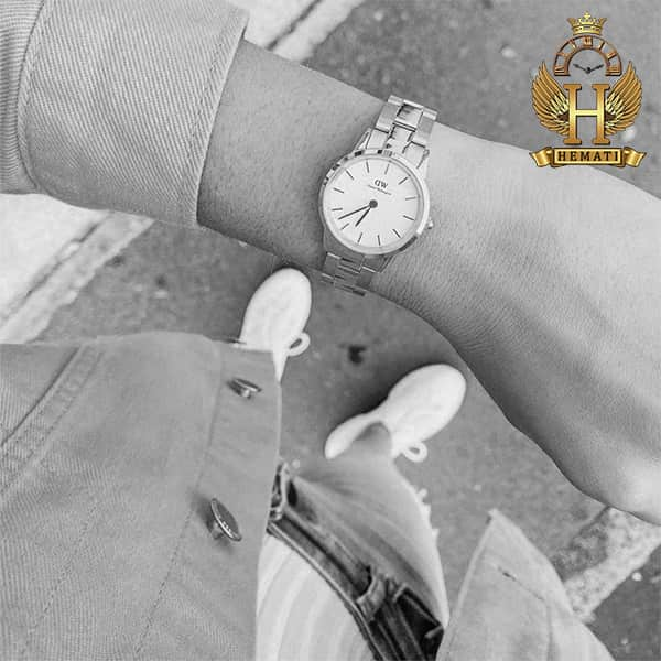 خرید انلاین ساعت زنانه دنیل ولینگتون Daniel Wellington DWL23 قاب و بند نقره ای با صفحه سفید