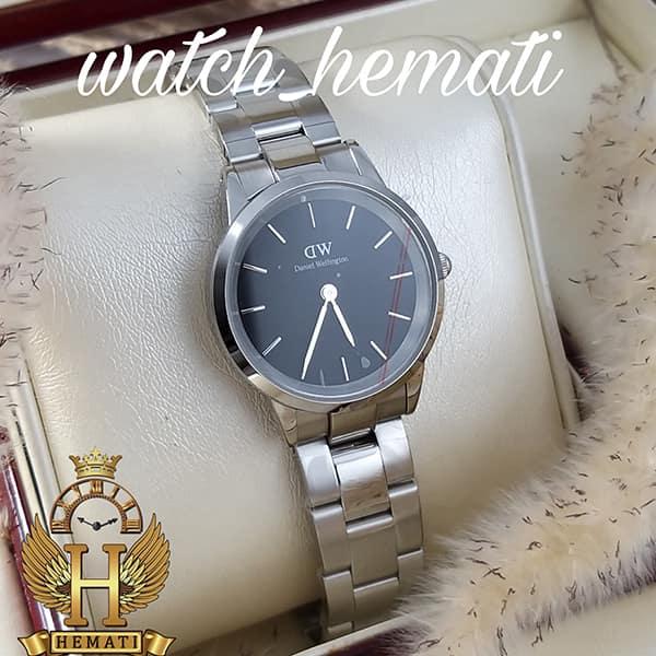 مشخصات ساعت زنانه دنیل ولینگتون Daniel Wellington DWL22 قاب و بند نقره ای با صفحه مشکی
