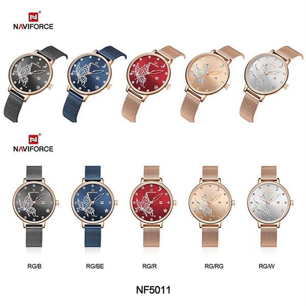 رنگبندی ساعت زنانه اورجینال نیوی فورس Naviforce NF5011L