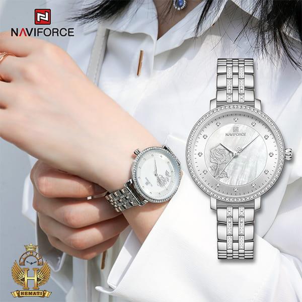 خرید ساعت مچی زنانه نیوی فورس Naviforce NF5017L در رنگبندی رزگلد ، نقره ای ، طلایی