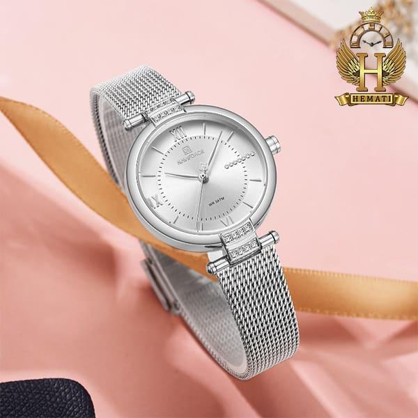 عکس ساعت مچی زنانه نیوی فورس Naviforce NF5019L در رنگ رزگلد و نقره ای