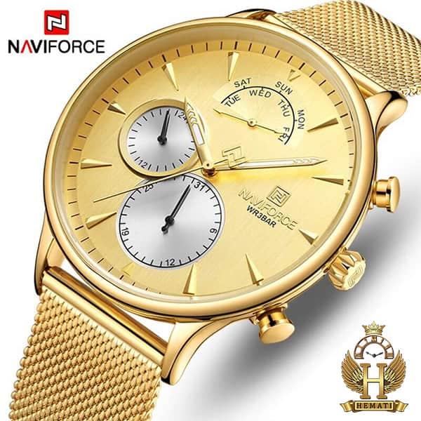 خرید ساعت مردانه نیوی فورس Naviforce NF3010M در رنگ طلایی