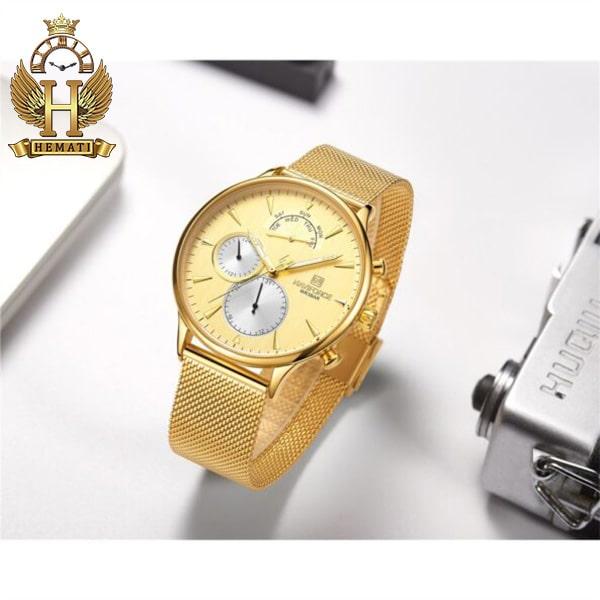 مشخصات ساعت مردانه نیوی فورس Naviforce NF3010M در رنگ طلایی
