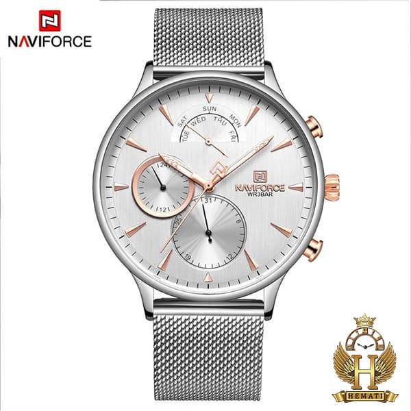 خرید انلاین ساعت مردانه نیوی فورس Naviforce NF3010M در رنگ نقره ای