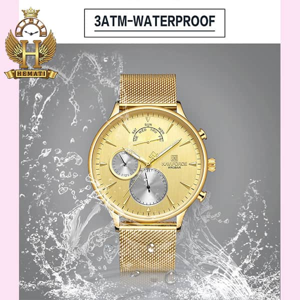 نمایندگی ساعت مردانه نیوی فورس Naviforce NF3010M در رنگ طلایی