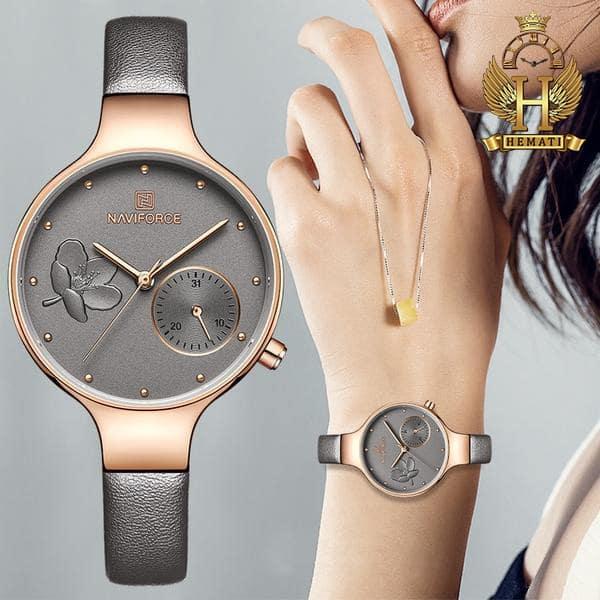 خرید ارزان ساعت مچی زنانه نیوی فورس Naviforce NF5001L بند چرم در رنگبندی