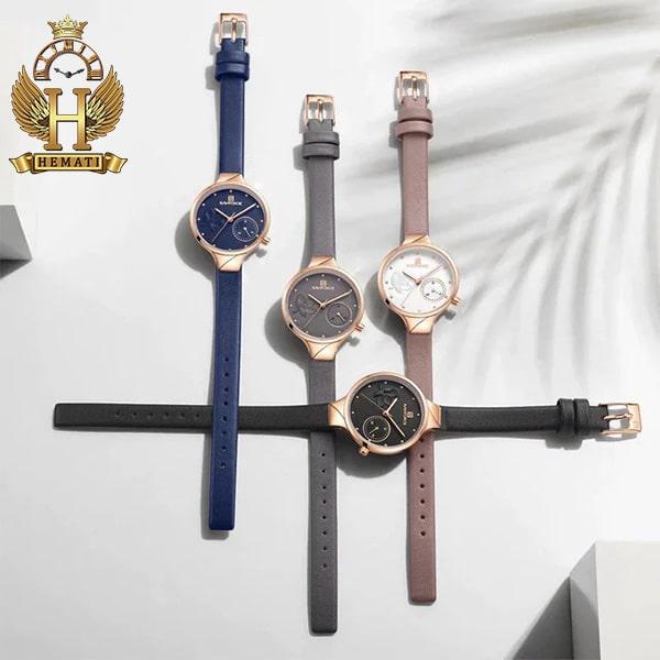 خرید اینترنتی ساعت مچی زنانه نیوی فورس Naviforce NF5001L بند چرم در رنگبندی