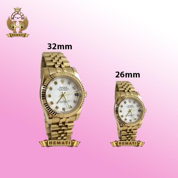 ساعت زنانه رولکس دیت جاست Rolex Datejust RODJL105 طلایی صفحه سفید صدف