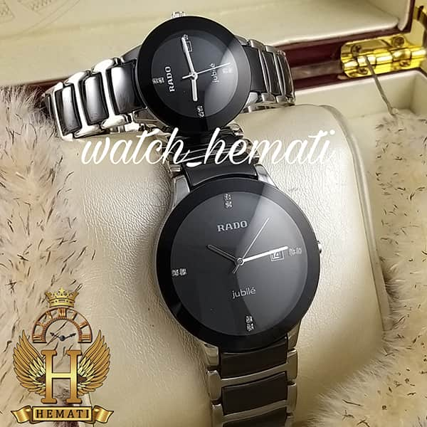 خرید ارزان ساعت ست رادو دیا استار Rado Diastar Jubile RDST106 مشکی_نقره ای