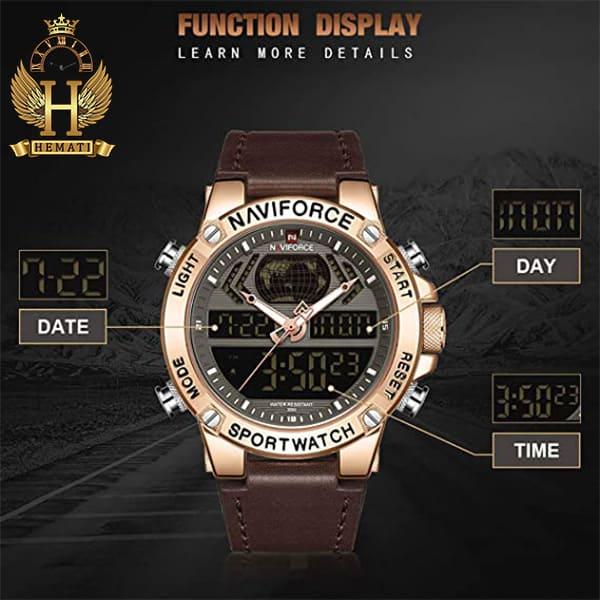 خرید ساعت مچی مردانه نیوی فورس Naviforce NF9164M