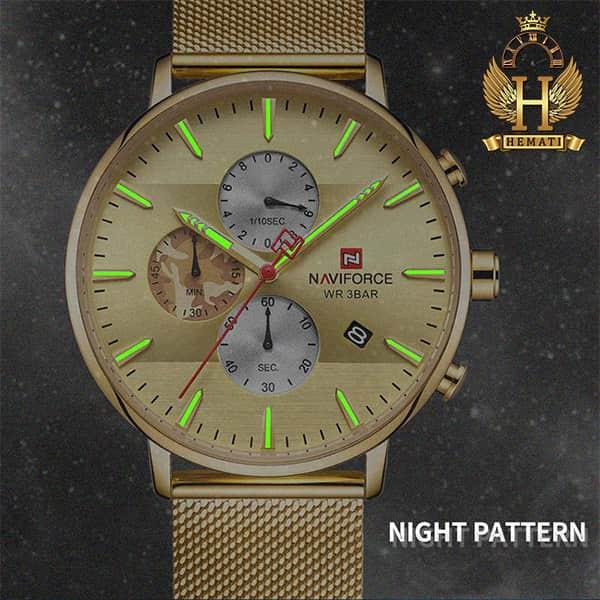خرید اینترنتی ساعت مردانه نیوی فورس Naviforce NF9169M طلایی