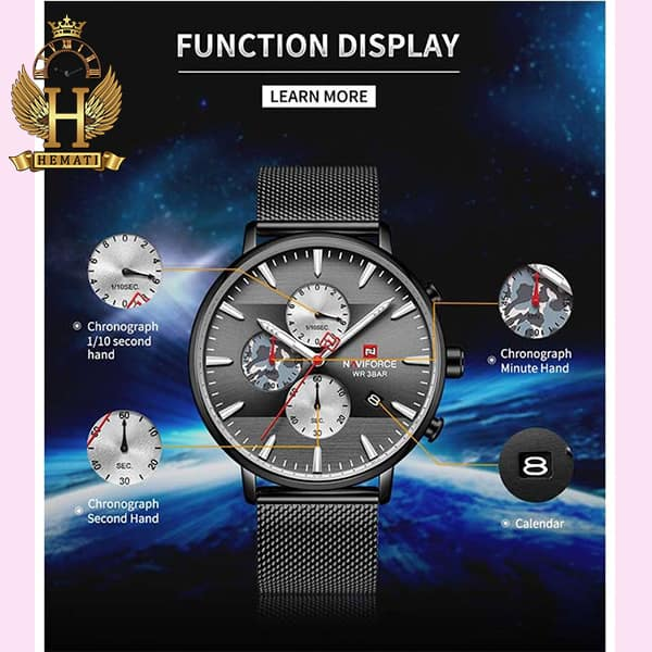 خرید انلاین ساعت مردانه نیوی فورس Naviforce NF9169M مشکی