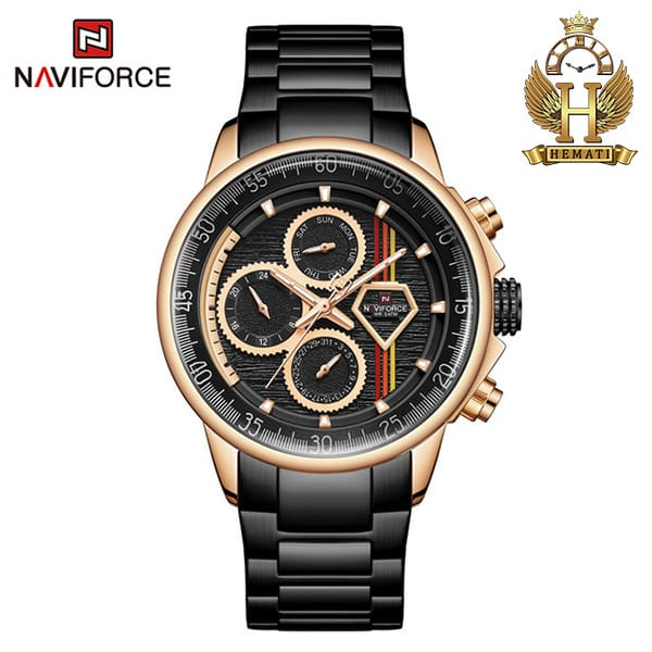 قیمت ساعت مچی مردانه نیوی فورس Naviforce NF9184M مشکی رزگلد