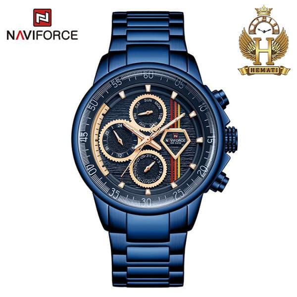 خرید ارزان ساعت مچی مردانه نیوی فورس Naviforce NF9184M سرمه ای