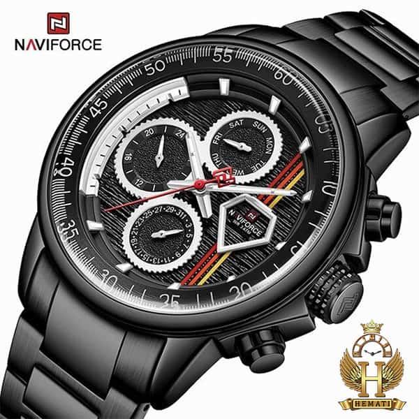 خرید اینترنتی ساعت مچی مردانه نیوی فورس Naviforce NF9184M مشکی