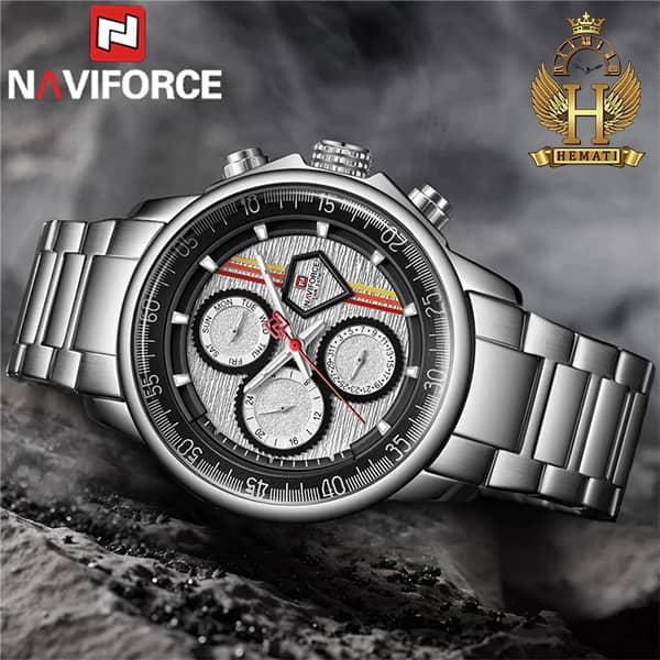 خرید ارزان ساعت مچی مردانه نیوی فورس Naviforce NF9184M نقره ای